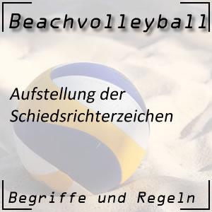 Beachvolleyball Schiedsrichterzeichen