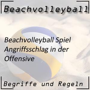Beachvolleyball Angriffsschlag
