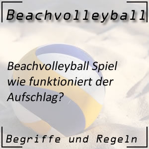 Beachvolleyball Aufschlag