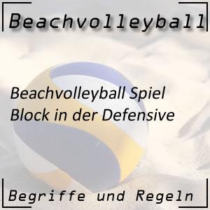 Beachvolleyball Block