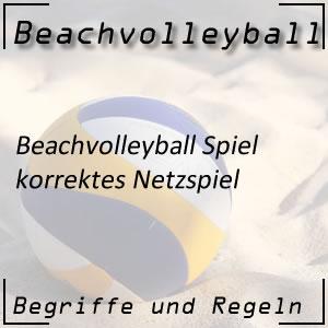 Beachvolleyball Netzspiel