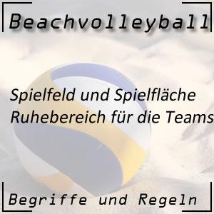 Beachvolleyball Ruhebereich