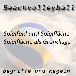 Beachvolleyball Spielfeld