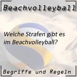 Beachvolleyball Strafen