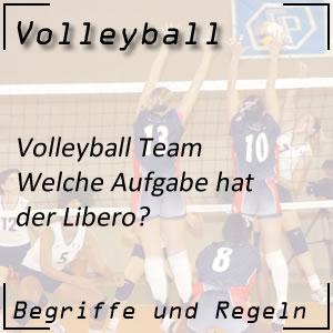 Volleyball Mannschaft Libero