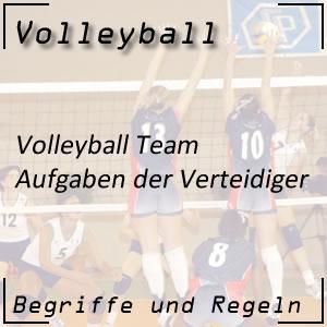 Volleyball Mannschaft Verteidiger