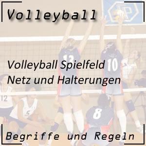 Volleyball Netz und Pfosten