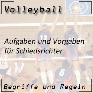 Volleyball Schiedsrichter Schiedsgericht