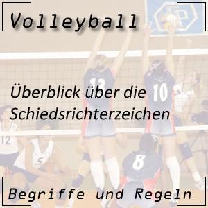 Volleyball Schiedsrichterzeichen