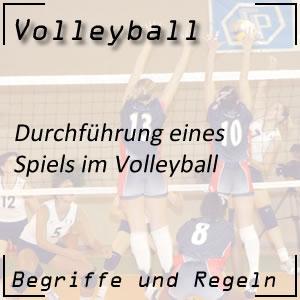 Volleyball Spieldurchführung