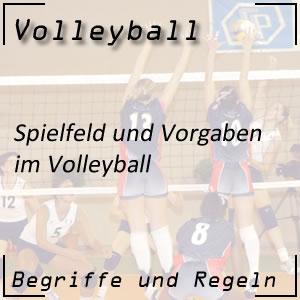 Volleyball Spielfeld Abmessungen