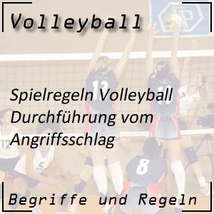 Volleyball Angriffsschlag