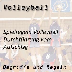 Volleyball Aufschlag / Service