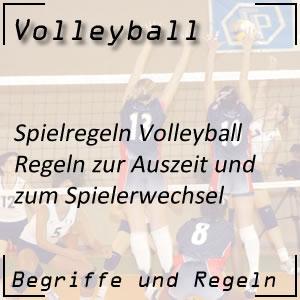 Volleyball Auszeit / Spielerwechsel