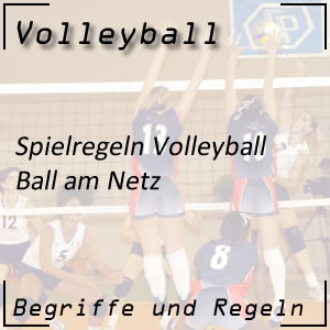 Volleyball Ball am Netz