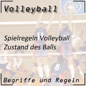 Volleyball Zustand des Balles