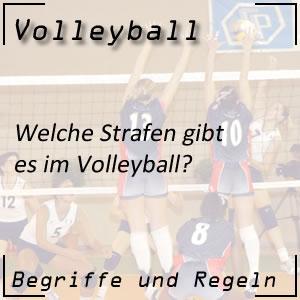 Volleyball Strafen / Sanktionen